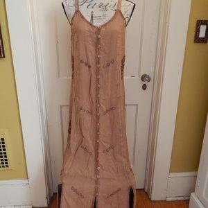 Vintage Sportique Tan Dress Sz L NWT